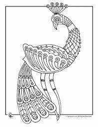 Free Printable Peacock Doodle Art Coloring Page For Adults