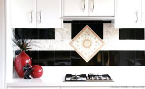 perfect white and black tiles for kitchen design interior