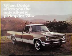 100 1972 Dodge Truck Pickup With Winnebago Kap Cover Color Sales Folder Die