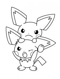 Fashionable Inspiration Baby Pokemon Coloring Pages Nice Pikachu Printable For Kids Throughout