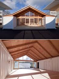 100 Homes From Shipping Containers Floor Plans Shigeru Ban Onagawa Temporary Container Housing Community