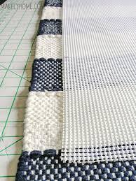 how to create a non slip bath mat from a cotton rug