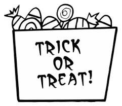 Halloween Candy Cartoon Clipart Image Coloring Page