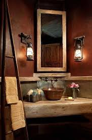 Rustic Bathroom Designs Showers White Table And Brown Wall Washbowl Flower Vase