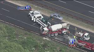 100 Cement Truck Video Truck Flips After Crash On Garden State Parkway 6abccom