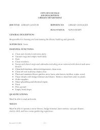 Job Description Janitor School Janitorial Not Maintenance Sample Ideas Of Responsibilities Resume Beautiful Examples F