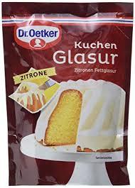 dr oetker kuchen glasur zitrone 11er pack 11 x 125 g