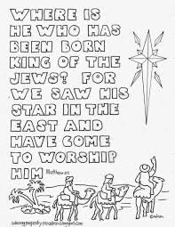 Matthew 22 Wise Men And Star Printable Coloring Page