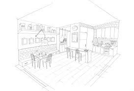 Coloring Page Kitchen Room Buildings And Architecture 27