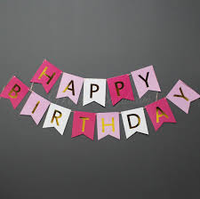 Gold Foiled HAPPY BIRTHDAY Lettering on Tri Color Cards Misty