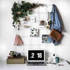 White Wire Wall Grid Mesh Memo Board Notice Metal