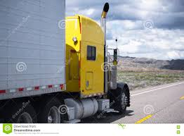 Yellow Classic Semi Truck Going By Oncoming Traffic Line Of Road ... Bright Red Power Classic American Big Rig Semi Truck With Tall Side Exhaust Pipes Stock Photos Images Semi Straight Exhaust Sound Youtube Best Deal Spring Truck Parts Heavy Duty Trucks Stacks For Lilac Great Classic Bonneted Big Rig With Trailer And Professional Classical Bonnet Red Semitruck A Long Cab Married Mobile Replacing Smokestack Black Bonnet Powerful Stylish Stylish High Pipes Transporting Oversize