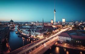 100 Water Bridge Germany Wallpaper Lights Twilight River Bridge Night