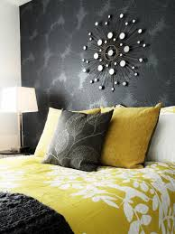 Gray And Yellow Bathroom Decor Ideas by Bedroom Romantic Yellow And Grey Bedroom With White Floral With