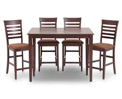 Plush Furniture Row Dining Tables Amazing Pub Height Table And Chairs Counter Elegant Chocolat 5 Pc
