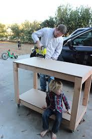 Easy DIY Portable Workbench Plans