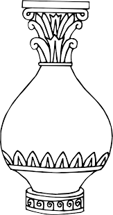 vase clipart black and white 2