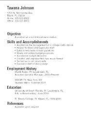 Resume Examples Basic For Students Skills Samples Part Time Jobs In Canada
