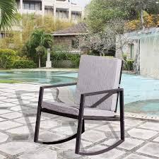 Amazon.com: Outdoor Rocking Chair Glider Grey,JULYFOX All ... My Favorite Finds Rocking Chairs Down Time Exciting Rattan Wicker Chair Cushions Agreeable Fniture Rural Grey Wooden Single Rocking Chair Departments Diy At Bq Outdoor A L Hickory 7 Slat Rocker In 2019 Handsome Green Tweed Cushion Latex Foam Rustic American Sedona Lowes For Inspiring Antique Classic Check Taupe Plaid Standish Darek La Lune Collection Belham Living Raeburn Rope And Wood Walmartcom