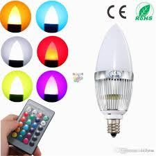 3w rgb led light bulb e12 flash color changing chandelier