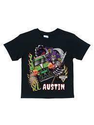 100 Monster Truck Shirts Personalized Jam Grave Digger Black TShirt Walmartcom