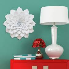 The Delightful Images Of Unique Wall Decor Bedroom Design Metal Flower Floral Pink Art White Home Ceramic