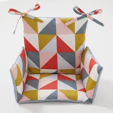 coussin chaise haute motifs triangle triann cocoeko