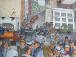 Coit Tower Murals Restoration by North Beach Romp With Ruby U2013 10 August 2015 Zulu Thoughts