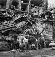 ITALY Naples W W II Germans Mine Post fice