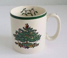 Spode Christmas Tree Mug And Coaster Set spode christmas u0026 winter table mugs pieces ebay