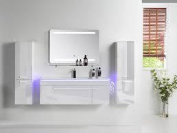 badmöbel set 120 cm 6 tlg weiß hochglanz badezimmermöbel komplett bad led weiß