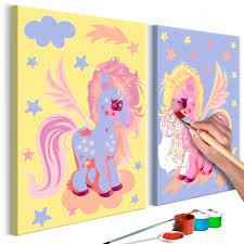 Cuadro Para Colorear Unicornios Mágicos Deko Shop