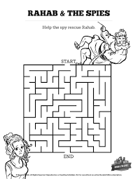 Joshua 2 The Story Of Rahab Bible Mazes Can Your Kids Help Two Hebrew Spies Navigate Every Twist And Turn This Activity