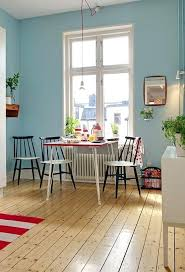blue kitchen walls with cherry cabinets light white wood
