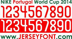 Font Number Football Jersey Vector Gambar dan Font
