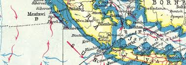 East Indies Shows Winds Ocean Currents 1920 Old Map