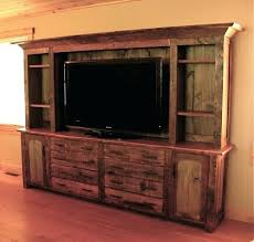 Wall Units Distressed Wood Entertainment Center Tv Rustic Diy