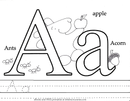 Letter A Coloring Page PDF