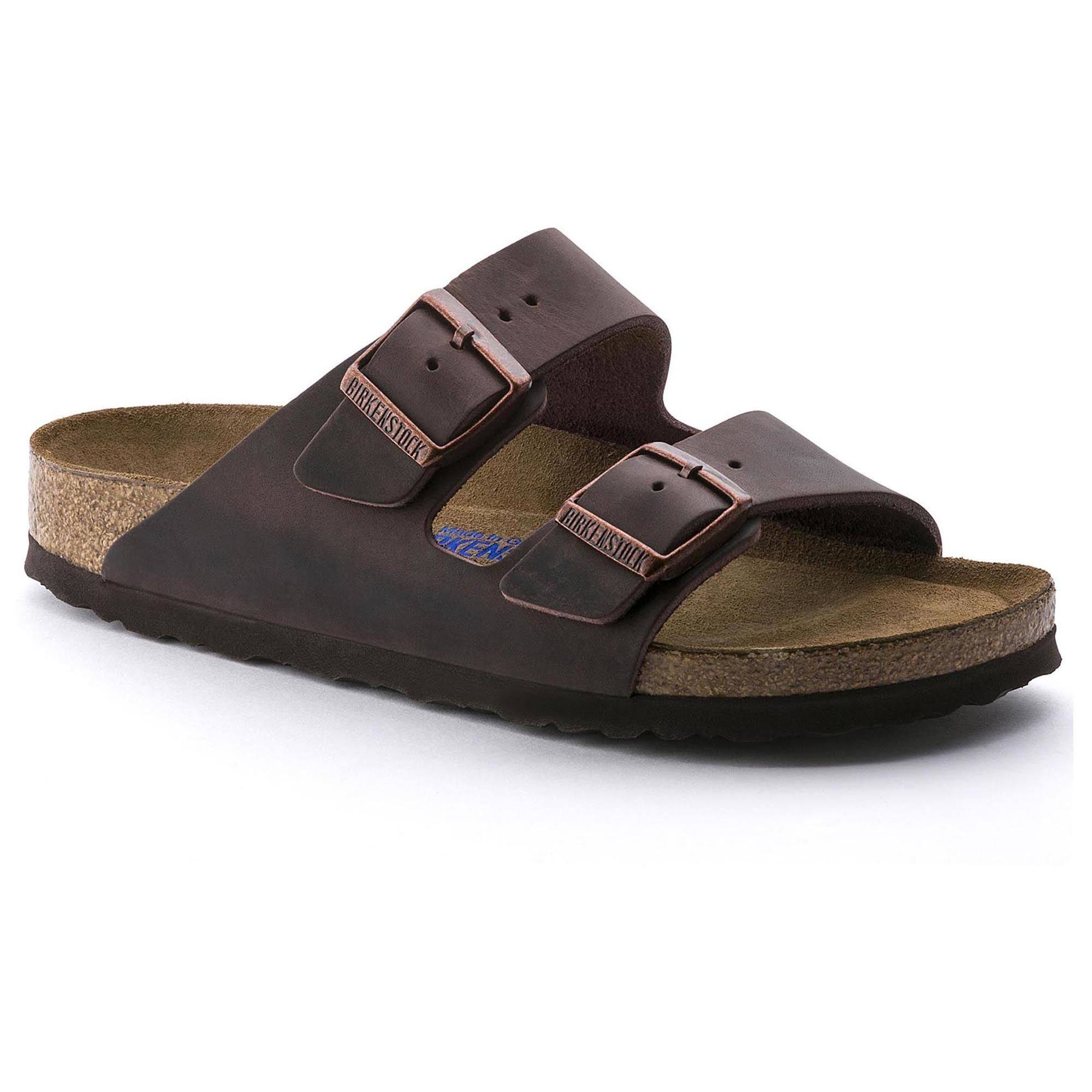 Birkenstock Arizona Soft Footbed Leather Sandal - Brown, 36 EU