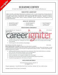 Senior Executive Assistant To Ceo Resume Sample Cl Classic Office