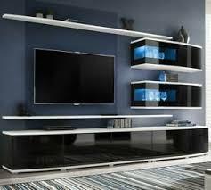 details zu wohnwand sonic anbauwand wohnzimmer set modern design wohnmöbel kollektion