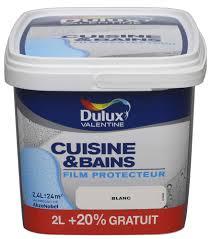 peinture dulux cuisine et bains satin blanc 2l 20