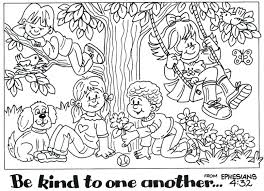 Bible Coloring Pages Gods Creation Friendship Preschool Page Printable Story Pdf Full Size