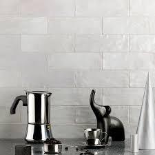 2x8 Glass Subway Tile by Montauk Fog 2x8 Ceramic Wall Tile Wall Tilebar Com