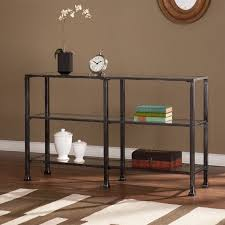 Walmart Metal Sofa Table by Southern Enterprises Metal Glass 3 Tier Console Table In Black