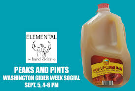 100 Elemental Seattle Peaks And Pints Washington Cider Week Socials Peaks And Pints Tacoma