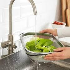 details zu ikea durchschlag edelstahl 34x23cm sieb nudelsieb küchensieb salatsieb küche