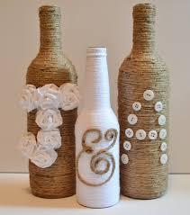 Custom Twine Wrapped Wine Bottles Rustic Wedding Decor Upcycled