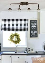White Kitchen Curtains With Red Trim by White Kitchen Curtains With Black Trim Large Size Of And Cream
