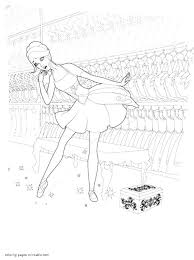Barbie And The Pink Shoes Coloring Pages 1
